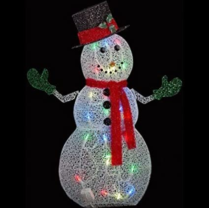 home depot 50 in crystal swirl snowman lighted yard sculpture app lights