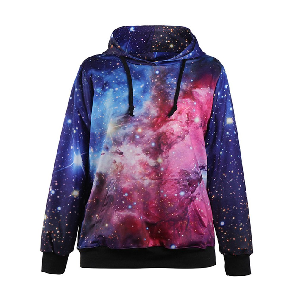 Sexy&Stylish Print Blue Space Sweaters Galaxy Hoodies Colorful Sweatshirts