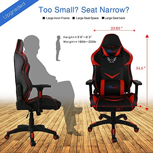 upgraded version kinsal large size big and tall computer chair