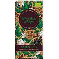 Chocolate & Love Organic Chocolate - Coffee 55% Dark Chocolate, 80g