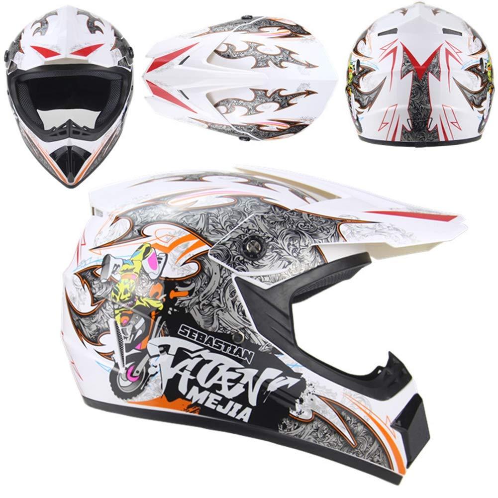 Helmet2 XX-grand AOSHE Casque de Motocross, Casque de Motocross Cross-Country Tout-Terrain VTT, Casque Tout-Terrain, Unisexe,Helmet1,XL