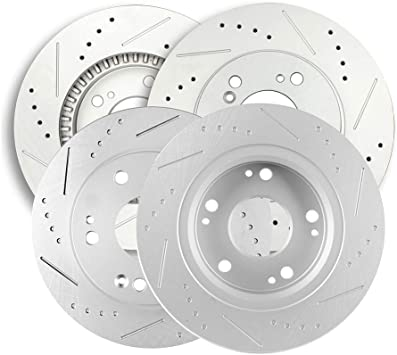Front Brake Rotors /& Ceramic Pads For Acura TL 1999-2000-2001-2002-2003 to 2008
