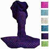 Amazon Price History for:Mermaid Tail Blanket, DDMY Knit Crochet Mermaid Blanket for Adult, All Seasons Sleeping Bag Blanket, Wave Pattern 74''x35''