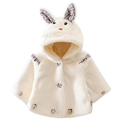 Infant Baby Girls Hooded Coat Cloak Jacket Thick Autumn Winter Warm Clothes