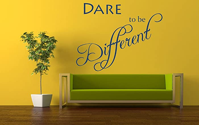 Amazon.com: Dare to be Different Quote, Vinyl Wall Art Sticker ...