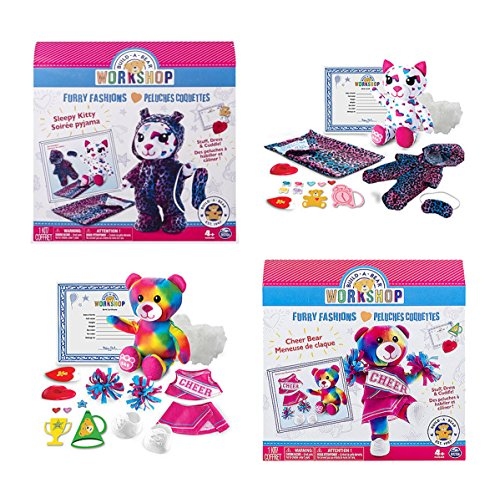 Build A Bear Stuffing Station Furry Fashions Refill and Accessory Sets - Sleepy Kitty & Cheer Bear (Build A Bear Certificate compare prices)