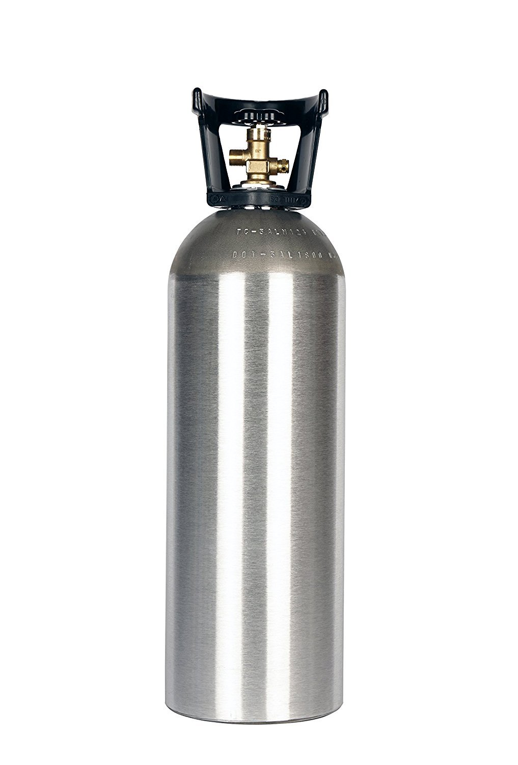 New 20 lb Aluminum CO2 Cylinder with CGA320 Valve, Handle, and Free Leak Stopper