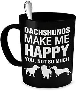 Dachshund Mug - Dachshunds Make Me Happy - Dachshund Coffee Mug - Dachshund Gifts