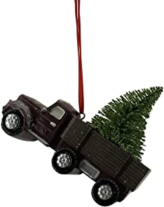 Comfy Hour Christmas Tree in Truck Christmas Tree Ornament, Christmas Decoration, Red & Green