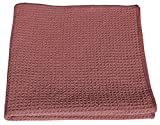 HoneyComb Microfiber Glass Cleaning Cloths 16x16 - Red Case of 204
