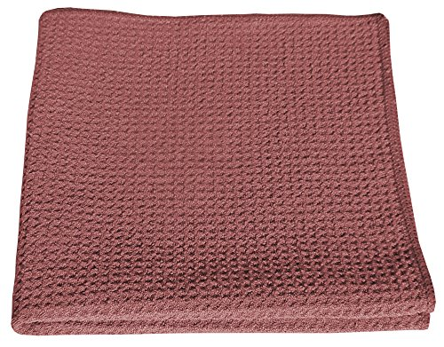 HoneyComb Microfiber Glass Cleaning Cloths 16x16 - Red Case of 204 by Direct Mop Sales, Inc.