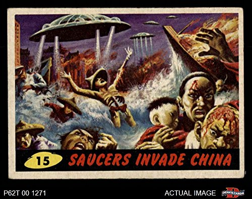 1962 Topps/Bubbles Inc Mars Attacks # 15 Saucers Invade China (Card) Dean's Cards 4 - VG/EX 2246005