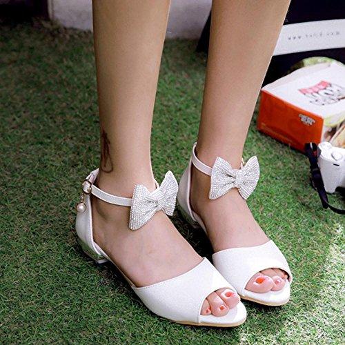Coolcept Women Cute Ankle Strap Sandals White 3d59c6