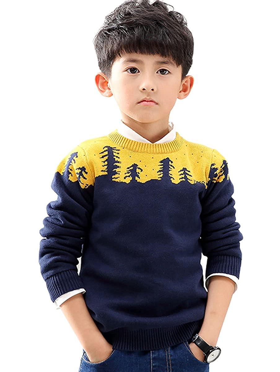 NABER Kids Boys Fitted Knitwear Pullover Crew Neck Sweaters Size 3-8 Years