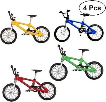 TOYMYTOY 4 piezas Juguetes de bicicleta de aleación, 1: 18 Adornos ...