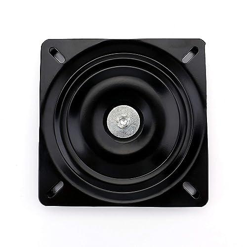 Fasmov 10 245mm Heavy Duty Bar Stool Swivel Replacement Seat Swivel Base Bar Stool Swivel Plate, Black