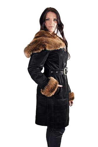 DX Leather Products – Abrigo – para mujer