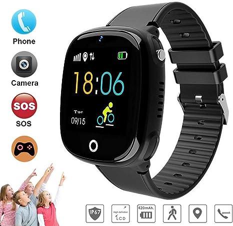 DUWIN Niños Inteligente Relojes, GPS Kids SmartWatch con Camara ...