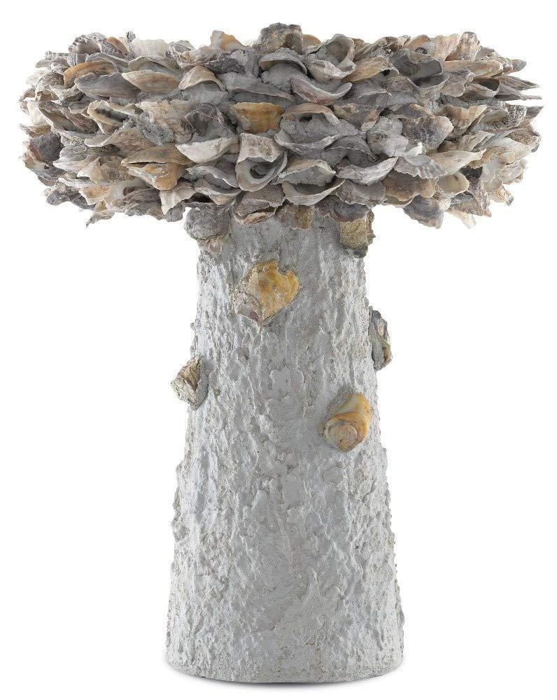 Currey & Company Home Oyster Shell Medium Bird Bath by Currey & Company