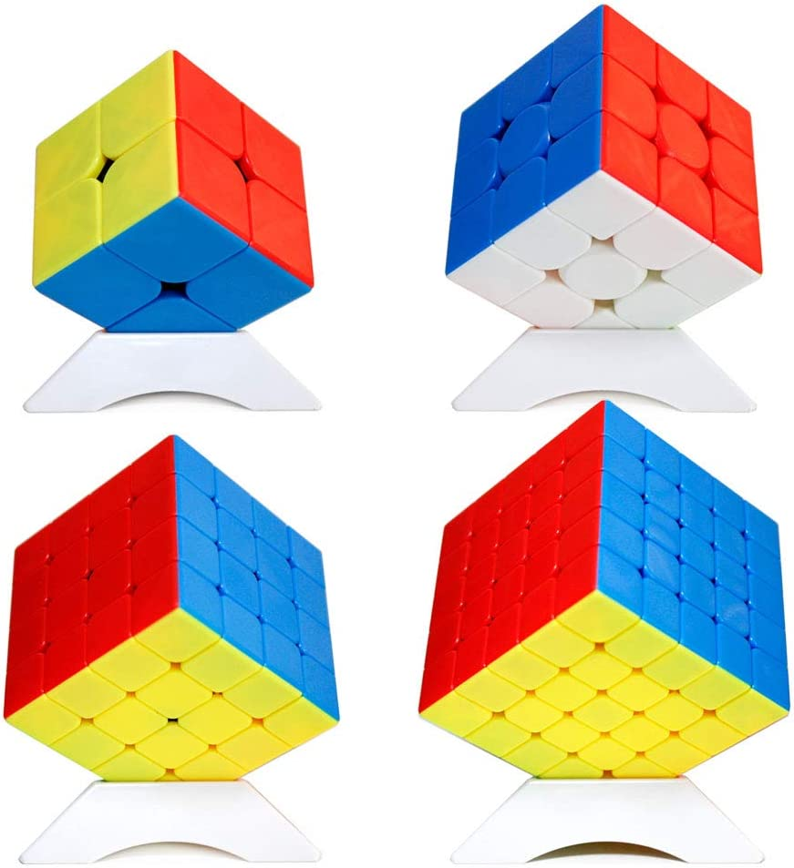 OJIN MoYu MOFANGJIAOSHI Cubing Classroom MFJS Meilong Specific Speed Cube Bundle 2x2 3x3 4x4 5x5 Bright Magic Cube Smooth Puzzles Cube Set with Gift Packing + Four Cube Tripods (Sin Etiqueta): Amazon.es: