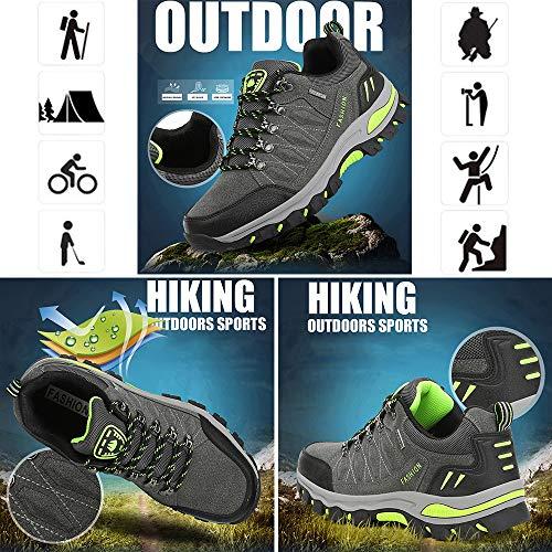 WOWEI Chaussures de Randonnée en Plein Air Imperméable Respirant Antidérapant Bottes de Trekking Promenades Voyages… 5