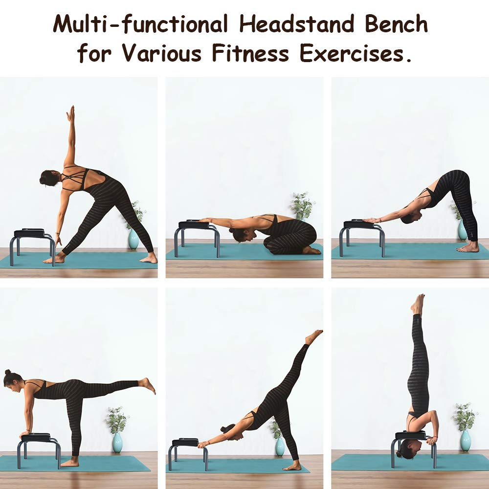 Amazon.com : YOLEO Headstand Bench-Yoga Inversion Bench ...