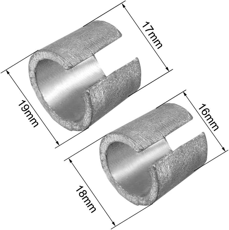 uxcell Battery Negative Battery Terminals Adapter Positive Post Shim Lead 2 Pairs