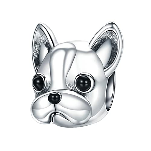 f26c6f61b 925 Sterling Silver French Bulldog Charm Cute Pet Dog Animal Charms fit for  Pandora Bracelets,