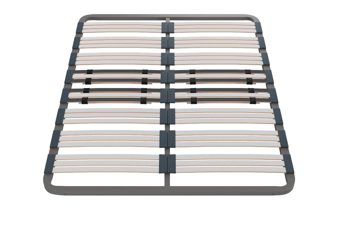 HOGAR24 Somier Multiláminas con Reguladores Lumbares, Sin Patas, Acero, 150x190cm
