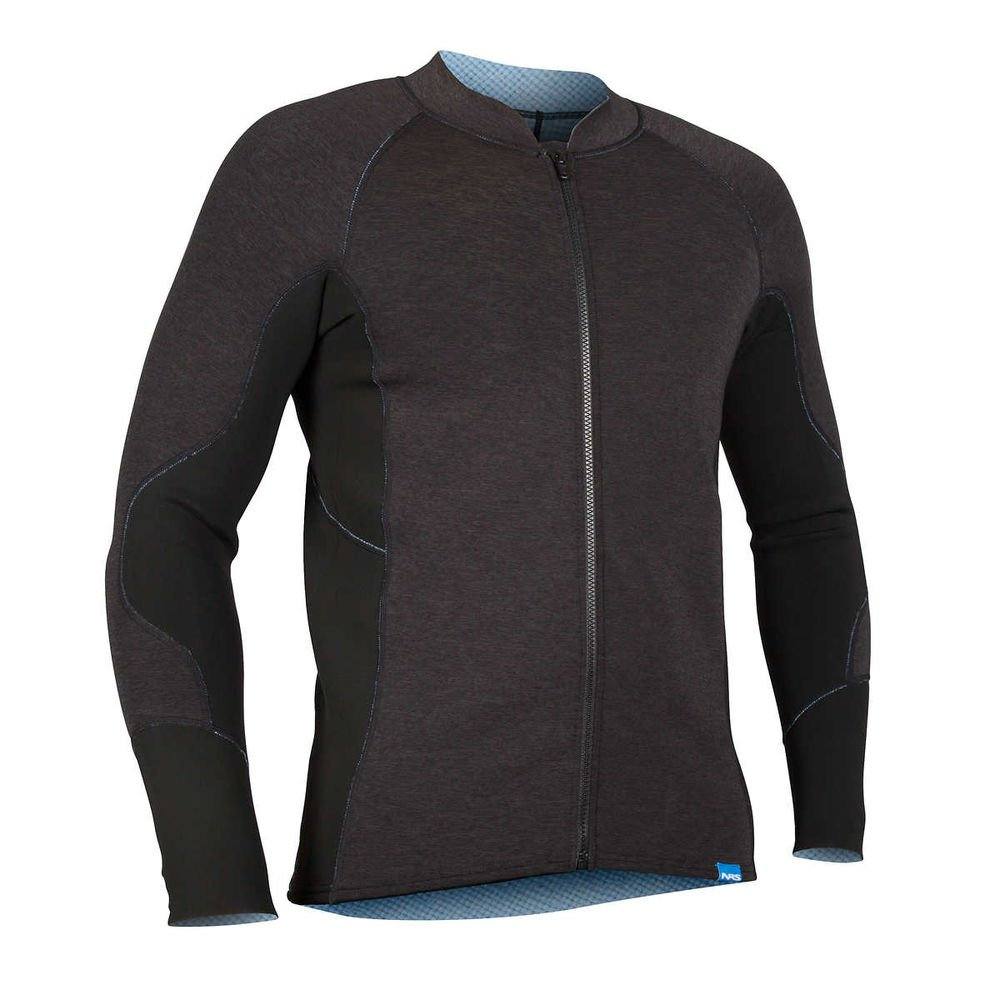 NRS HydroSkin 1.5 Jacket - Men's Charcoal Heather Large