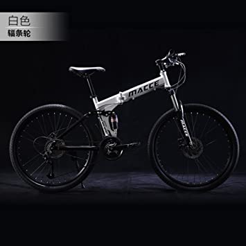21 velocidades Plegable Bicicleta de montaña Bicicleta 24 pulgadas Estudiantes masculinos y femeninos Cambio Amortiguador de