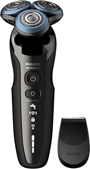 Philips Norelco 6880/81 Shaver 6800, Rechargeable Wet/Dry Electric Shaver, with Trimmer Attachment