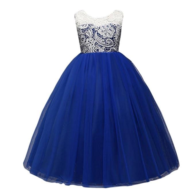 Zhhlaixing Long Lace Fiestas Vestidos Boda Pageant Dama De Honor Bautizo Flores Princesa Vestido para Las