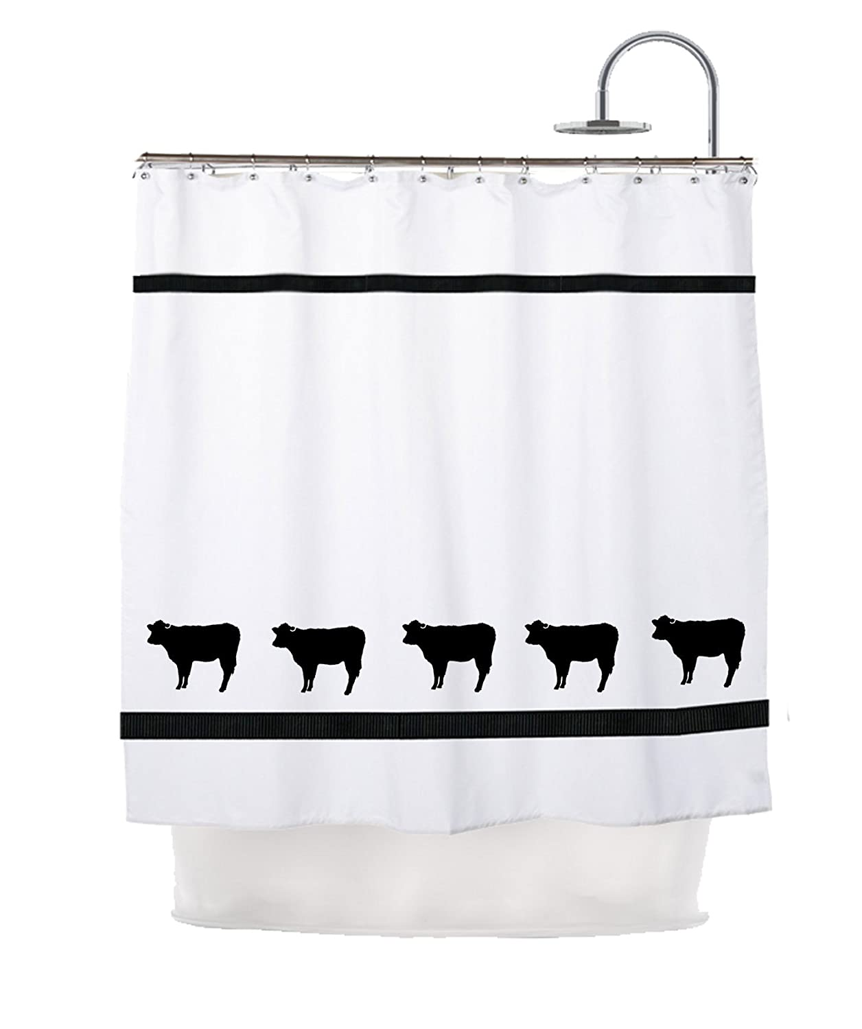 Amazon Cow Angus Cattle Shower Curtain