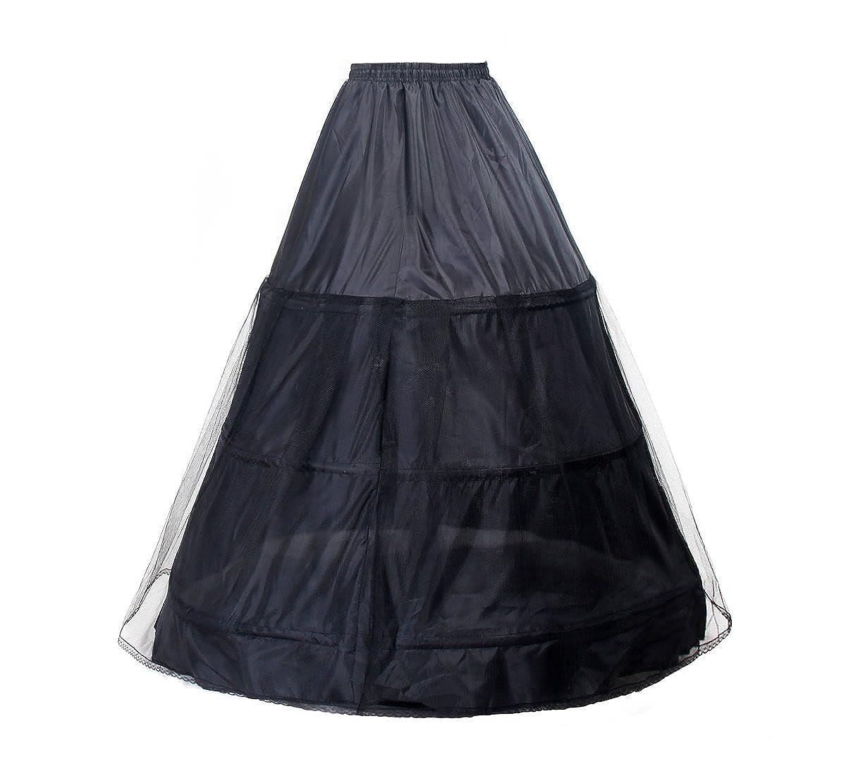 TUKA Reifrock 3 Ring verstellbar, Underskirt Unterrock, Petticoat Krinoline, verfügbar in verschiedenen Farben und Größen, TKB0005