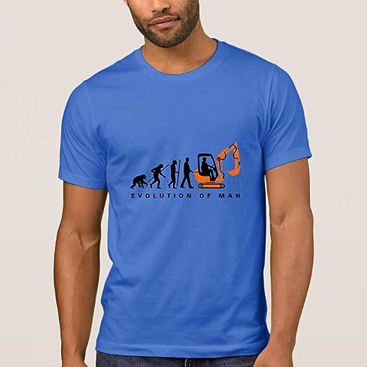 Amazon.com: AcgStyle Interesting Tshirt Men Cute Evolution Excavator Driver Short Sleeve Tees: Clothing