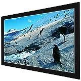 LEESONS INC. 92'' Aluminum Frame Presenter Movie Projector Screen Wall Mount 16:9 - Black Frame -