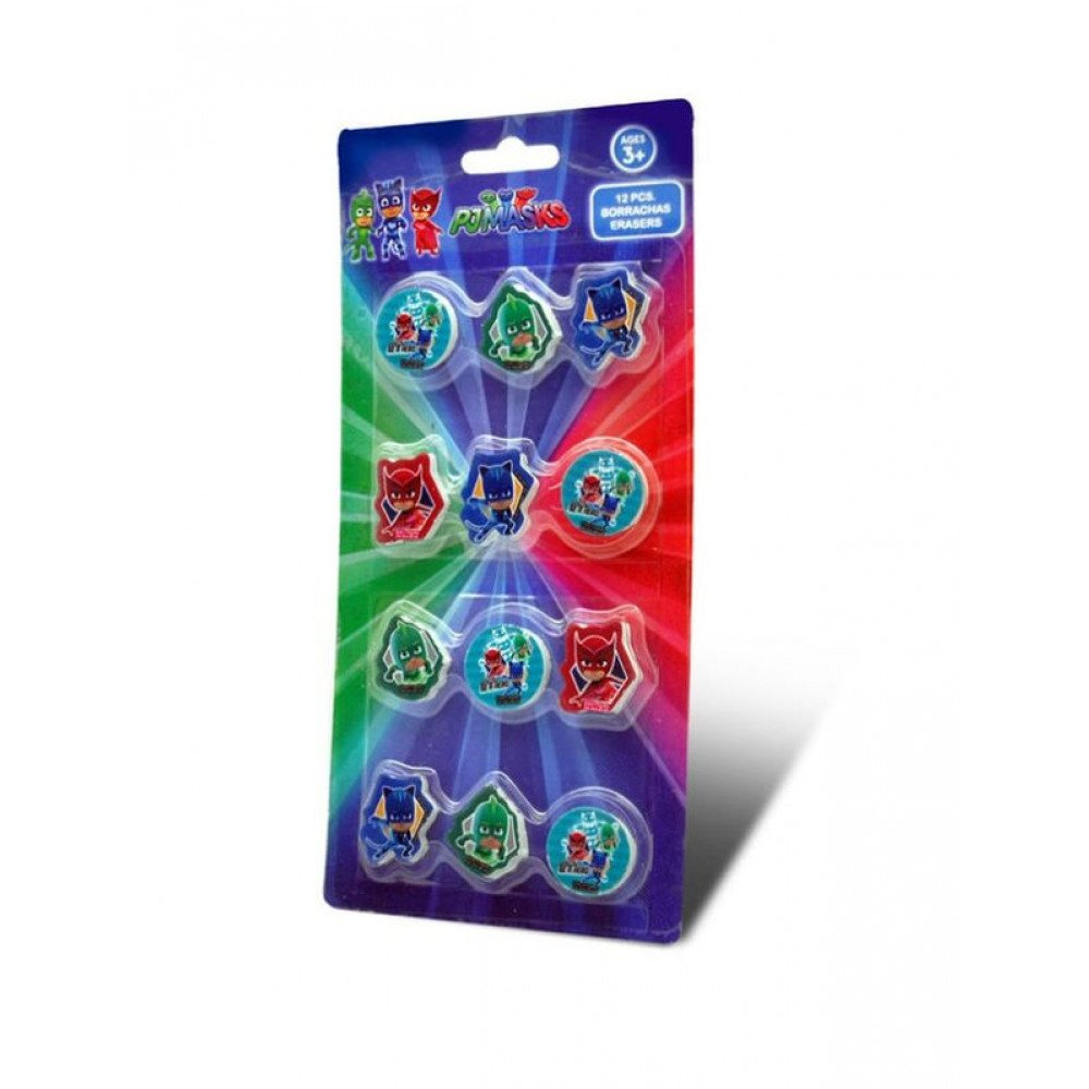 Set di 12 gomme pjmasks CARTOON WORLD KD-PM17043