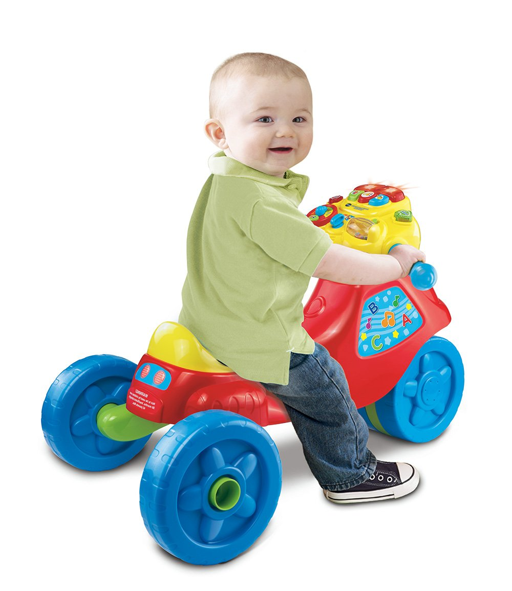 Amazon Com Vtech 2 In 1 Learn And Zoom Motor Bike Toys Games