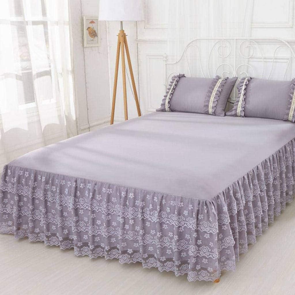QUNCUNG Bedding Ruffled Bedskirt,Encaje Cubre Canapé Reina ...