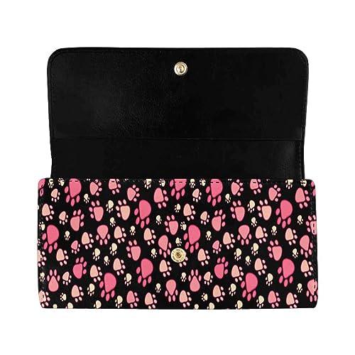 Women Lady PU Leather Clutch Wallet Long Card Holder Purse Handbag Tri-fold