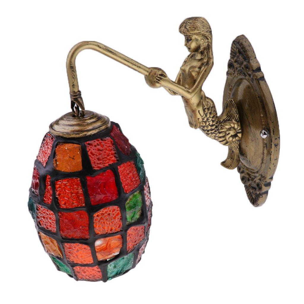 B Blesiya Multicolour Turkish Moroccan Mosaic Wall Light Lamp Lampshade Hand Made Craft - ##1