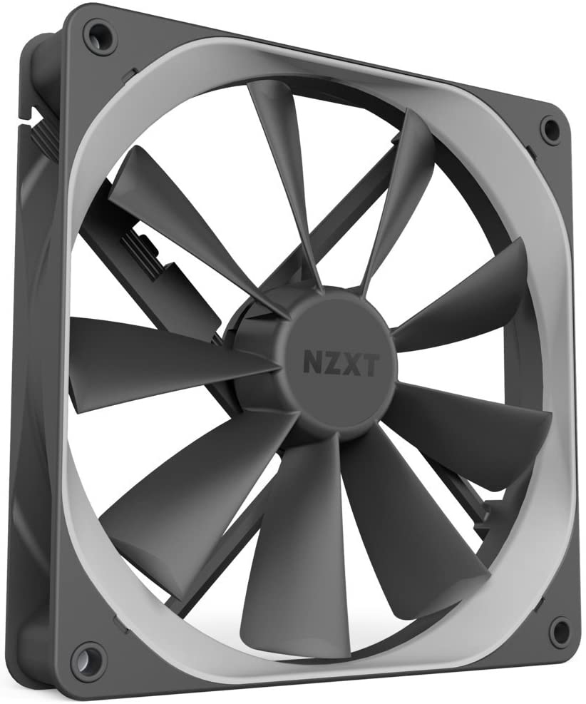 NZXT AER F - 140mm - Winglet Designed Fan Blades - Fluid Dynamic Bearings - PWM Airflow Fans - Gaming Computer Fan