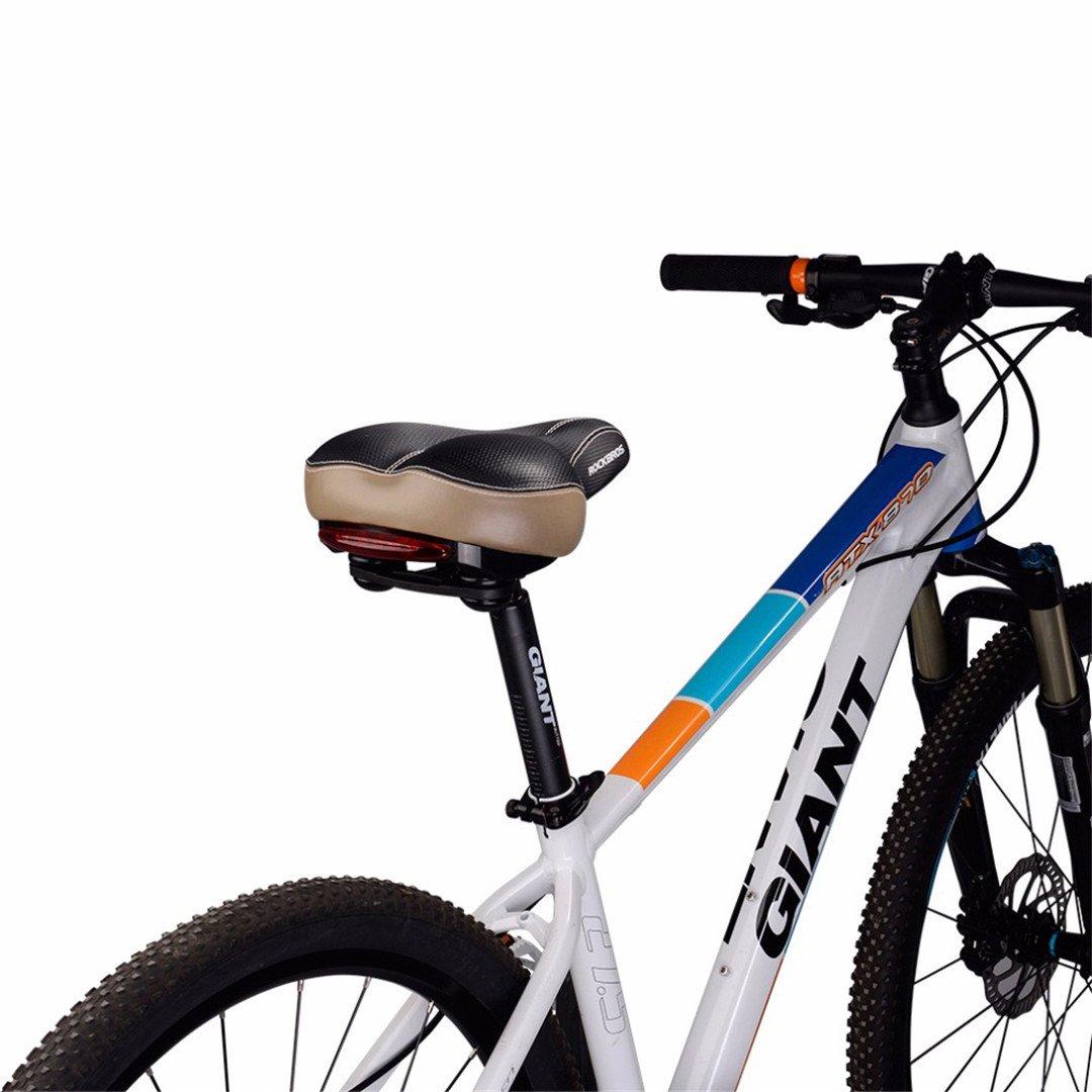 Teensy Amortiguador Trasero de la Bici Amortiguador para el Engranaje Hueco del Carril de Cuero Parte Suave de la Bicicleta Que Cubre el Asiento de Ciclo 2 ...