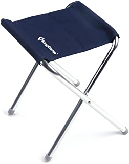 kingcu0026 folding cu0026 stool portable lightweight small fold chair aluminum alloy square canvas for hiking traveling sc 1 st amazoncom