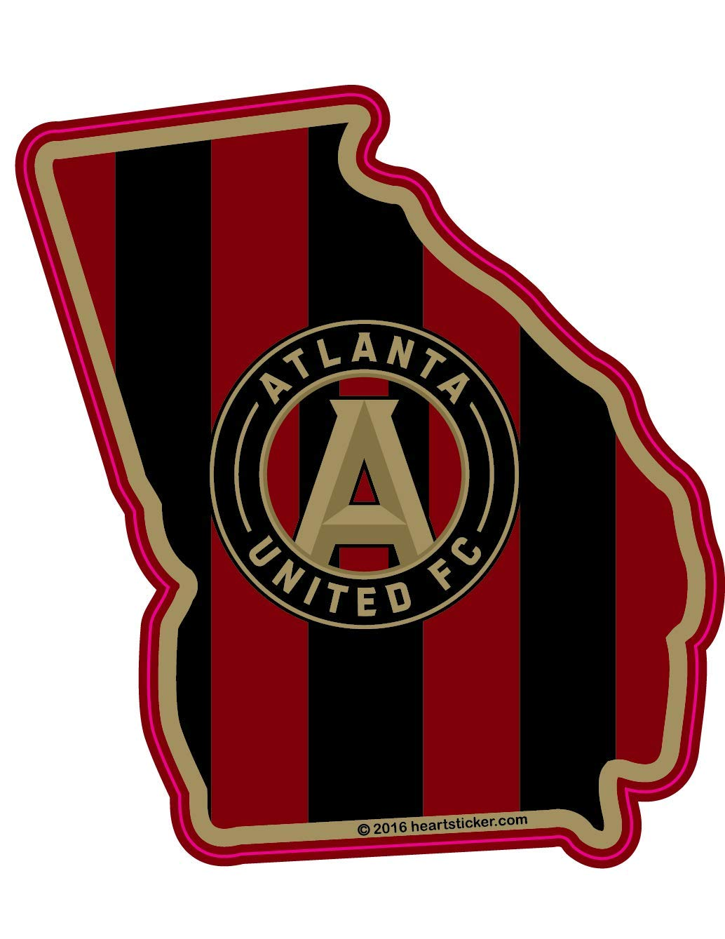 Amazon com mls atlanta united fc sticker in georgia die cut vinyl all weather waterproof super adhesive outdoor indoor use sticker automotive
