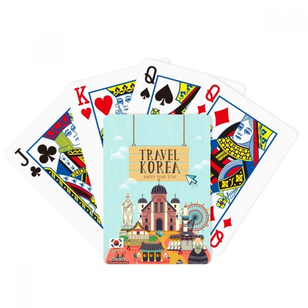 beatChong Travel Korea Enjoy Your Stay Poker Playing Card Tabletop Board Game Gift by beatChong