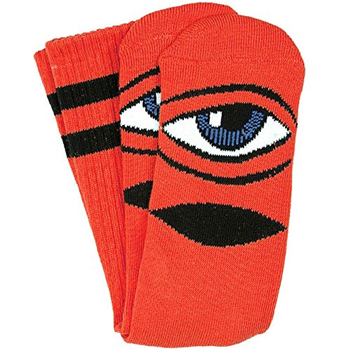 Toy Machine Men's Sock - (1 Pair) (One Size, Sect Eye III Red) (Toy Machine Sect Eye Socks)