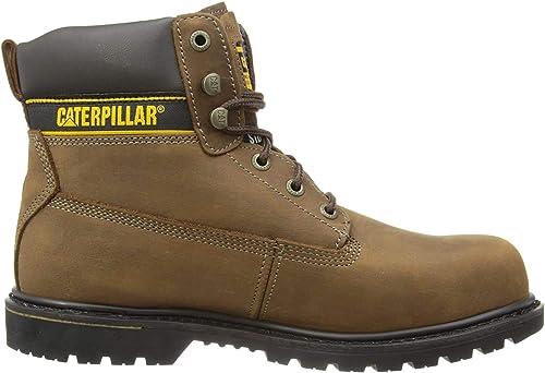 Cat Footwear Holton S3 HRO SRCMens Dark Brown, Bottes de sécurité Homme