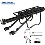 Dirza Rear Bike Rack Bicycle Cargo Quick Release Adjustable Alloy Carrier 115 Lb